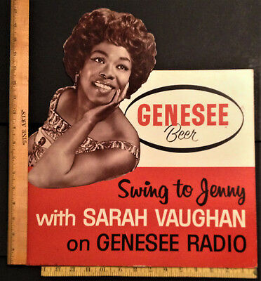 Sarah Vaughan Stand Up Sign Genesee Brewery Radio Rochester,ny Jenny Genny Swing