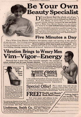 Ad Lot Of 4 Early 1900 's Ads  Lindstrom Smith Co White Cross Electric Vibrator