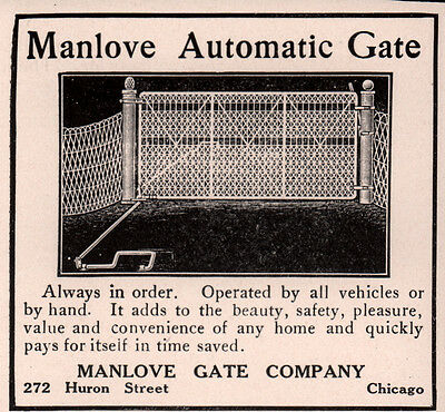 Ad Lot Of 3 Early  Manlove Automatic Gate Ads