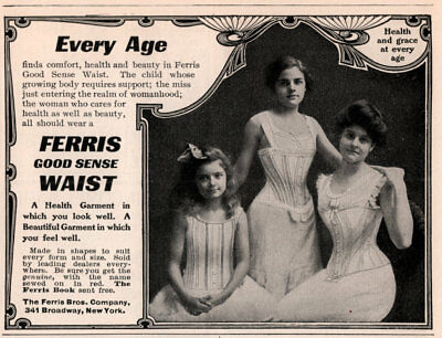 1915 Ad Justrite Corsets Gage Downs Co Ferris Waists 7 Styles Photo Model