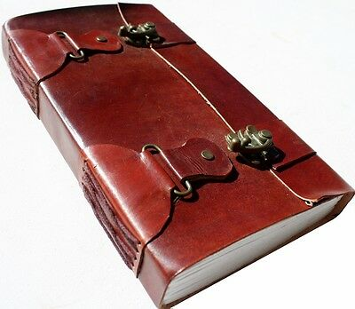 Handmade Leather Double-Lock Journal Diary Notebook Great Gift