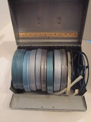 Lot Of 9 w/ Cans VINTAGE 1960's 8mm SUPER 8 Family Home Movies REELS Metal Box