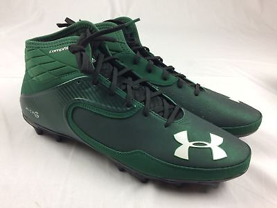 NEW Under Armour UA Nitro Icon Mid - Green Cleats (Men's 14)