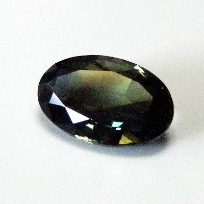 Natural earth-mined green/yellow/blue sapphire oval gemstone...1.8 carat gem