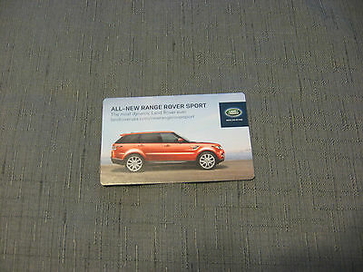 LAND ROVER OFFICIAL RANGE ROVER SPORT 2014 - Advertising Card
