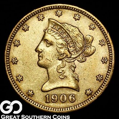 1906-O Eagle, $10 Gold Indian, Sharp Choice BU Better Date New Orleans Issue!