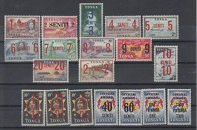 Tonga: 1967/8 Definitive surcharges.SG228/42 & SG022/025 MUH/MNH.Going Cheap