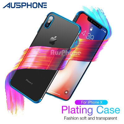 For Apple iPhone X 8 7 Plus Case Slim Clear  Soft Bumper Shockproof Thin Cover