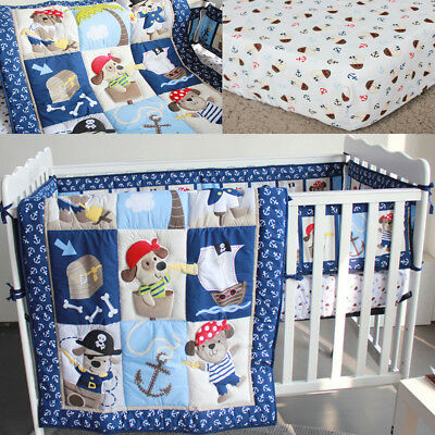 2 PCS Bedding Set Cot Crib Boy Girl Nursery Set Infant Comforter Quilt Sheet AU
