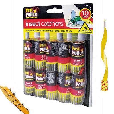 10 Pack Insect Catchers Killer Tape Strip Pest Bug Wasp Window Fly Poison Free