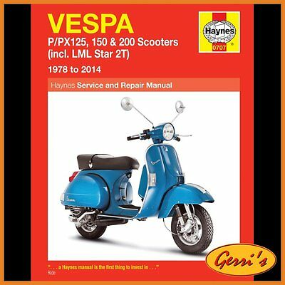 0707 Haynes Vespa P/PX 125, 150 & 200 scooters 1978 - 2014 Workshop Manual