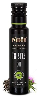 Podor Premium Cold-Pressed Thistle Oil in dark bottle 250ml Nature and Clear