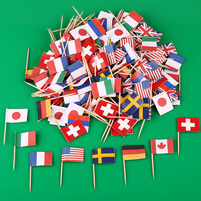 200 pcs small National Flag mini Nationale Flaggen Dekoration Nationalflagge