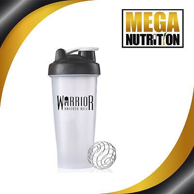 Warrior, Protein Shaker Blender Mixer Bottle, 600ml;- with Mixer Ball