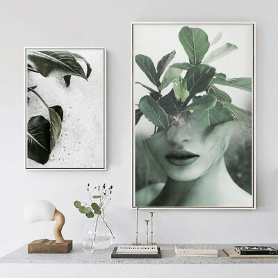 Plants Leaves Canvas Poster Prints Nordic minimalist Art Wall Home Decoration