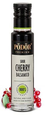 Podor Premium Vinegar Sour Cherry Balsamico  100ml Natural and Clear