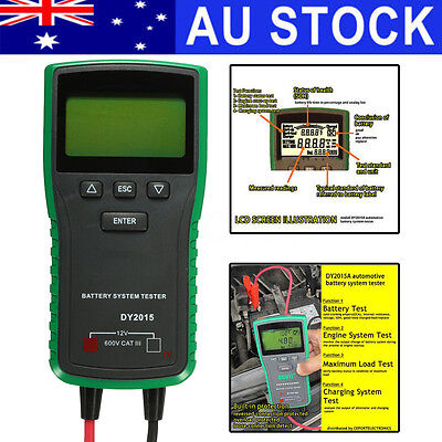 AU Digital 12V LCD Auto Car Battery Load Tester Analyzer Diagnostic System CCA