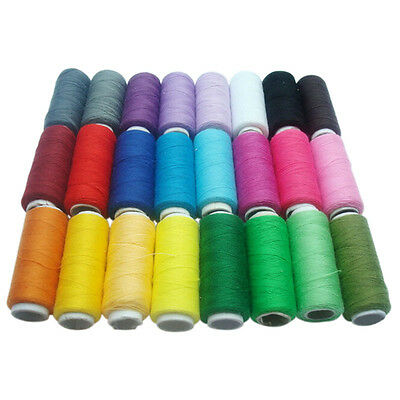1X 24 Colors Sewing 100% Pure Cotton Thread Home DIY Tools Line String Cord Hot