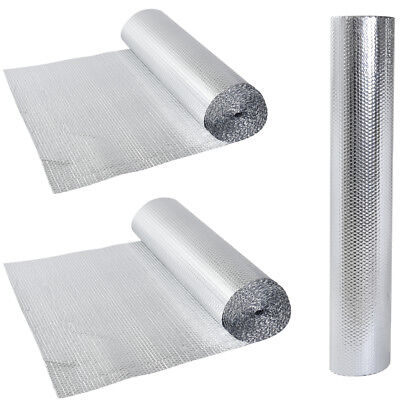 Double Foil Single Layer Air Bubble Wrap Aluminum Insulation Roll New UK STOCK
