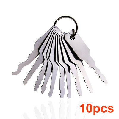 Universal 10Pcs/set Car Auto Lock Out Emergency Kit  Door Open Tool Keys