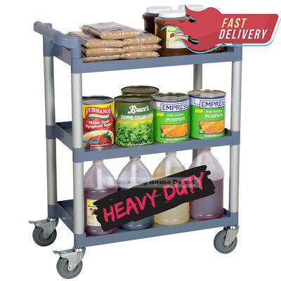 Heavy-Duty Utility Kitchen Storage Shelves Orgnizer Shelf Cart Rolling Tier 16""
