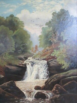 Listed Scottish Artist William Kennedy - Large Oil Painting - Dovedale Beck 1899