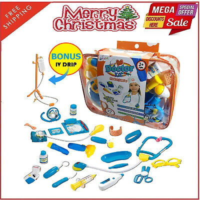 Pretend Play Doctor Kit Stethoscope Medical Supplies Christmas Gift For Kids