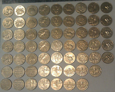 WOW 5 Full Sets of 12 x 1988 Darling Harbour Sydney Monorail Tokens 60 pcs total