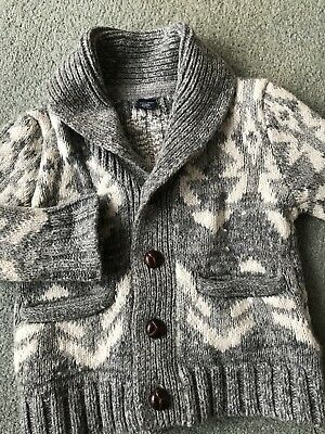gap baby Toddler boy's knitted cardigan aged 12 - 18 mths Christmas Winter Grey