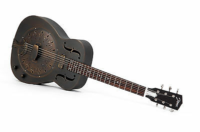 RESONATOR GITARRE JOHNSON JM-998 E-A antik finish +Tonabnehmer (UVP 2017: 870 €