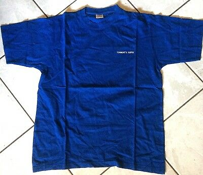 TENNENT'S SUPER promo BLUE t-shirt vintage birra beer size XL used
