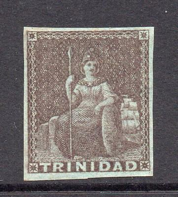 Trinidad 1 Penny Purple/Brown Stamp c1851-55 Mounted Mint