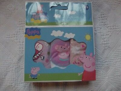 Girls Official Pk Of 3 Pairs Of Cute Peppa Pig Knickers Age 4/5 & 6/8 Yrs