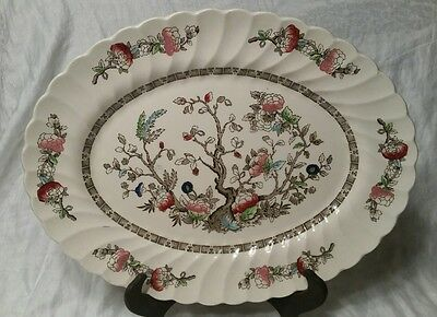 "Vintage Myott Fine Staffordshire Ware Indian Tree Serving Platter 14.75"" Nice"