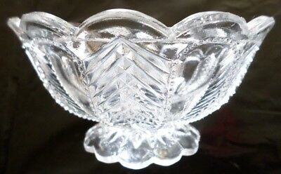 Vintage Bowl Decorative Footed Glass Collectible Pedestal Dish Small Compote