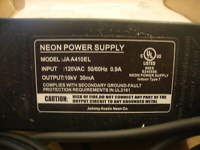 New Neon Transformer Power Supply With Pull Chain Switch UL Listed 10 kV A410EL
