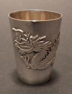 Nice 19Th Century Chinese Export Silver Beaker By Tuck Chang