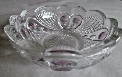 Vintage Bowl Dessert Dish Decorative Clear Collectible Depression Glassware Gift