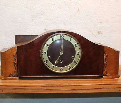 Antique Table Clock Westminster Mantel Clock Chime Clock *MARKED*