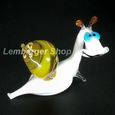 Glass figurine snail made of colored glass. Lenght 8 cm / 3.2 inch!