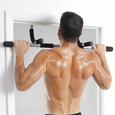 Door Gym Exercise Iron Man Bar Chin Ups Pull Ups Sit Up Fitness Workout Wall