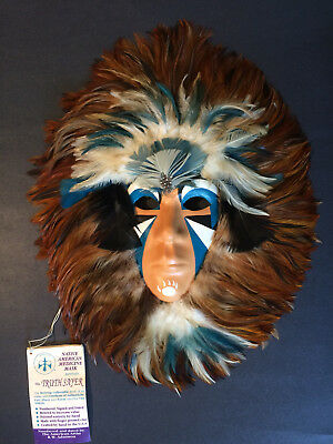 """Retired R.W. Adamson Handcrafted Signed Shaman Medicine Mask  """"The Truth Sayer"""""""
