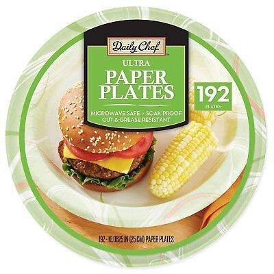 "Daily Chef Ultra Paper Plates, 10 1/16"" 192 ct."