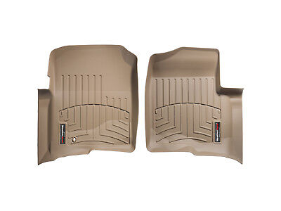 Tan 450051 WeatherTech Custom Fit Front FloorLiner for Ford F150 Regular Cab