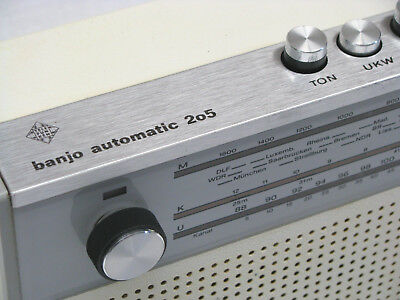 TELEFUNKEN banjo automatic 205 Transistorradio Kofferradio  ** TOP **