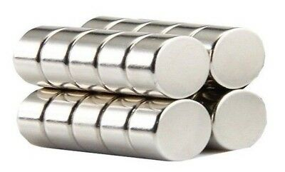 8 Super Strength 10mm by 5mm Neodymium N42 Disc Magnets - Excellent Value!