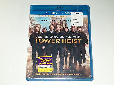 Tower Heist (Blu-ray/DVD, 2012, 2-Disc Set, Special Edition) NEW
