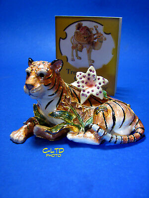 Fitz & Floyd TREASURES Collection : Glistening TIGER Hinged BOX  ... New in Box!
