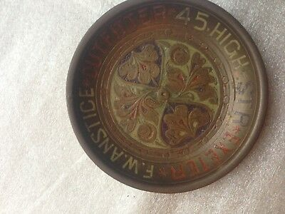 Metal & Enamel Exeter F W Anstice 45 High St Outfitters Advertising Pin Dish .