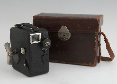 Vintage Pathex Pathescope Cine Camera French 1920's MotoCamera in Leather Case